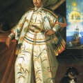 portrait of Hasekura Tsunenaga in full regalia