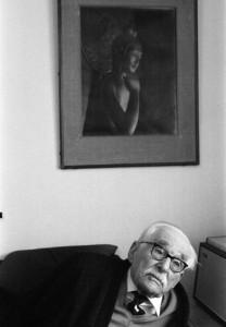 Bernard Leach photographed by Setsuo Kato